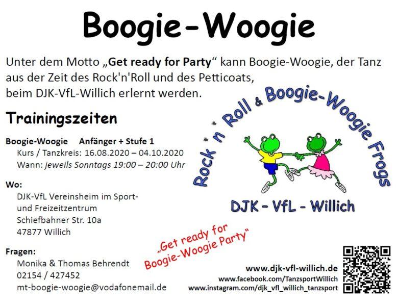 Neue Boogie Woogie Kurse